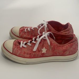 Converse all star red tie dye 8